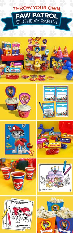 PAW Patrol Party Day Planner Planning a PAW Patrol birthday party for your preschooler? Birthday Party Games For Kids, 3rd Birthday Parties, Birthday Fun, Birthday Ideas, Paw Patrol Games, Paw Patrol Party Favors, Paw Patrol Birthday Invitations, Cumple Paw Patrol, Pow