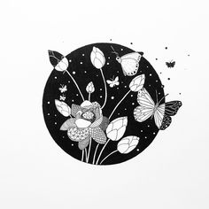 Floral Drawing, Ink Pen Drawings, Circle Art, Love Illustration, Pen Art, Realism Art, Art Sketchbook, Line Drawing, Doodle Art