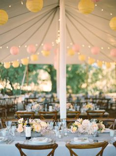 Fun and festive tented reception.