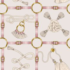 Belts and Ropes by Elona laff Seamless Repeat Royalty-Free Stock Pattern View Belts and Ropes Conversationals Design by Elona laff. Available in Seamless Repeat Royalty-Free. Textile Pattern Design, Baroque Pattern, Saint Tattoo, Hermes, Spider Art, Into The West, Equestrian Decor, Pattern Library, Scarf Design