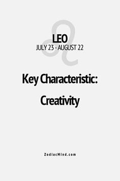 Leo   Creativity