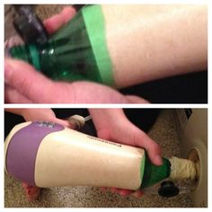 Use the top of a 2 Liter bottle, tape, and a hair dryer (on cool) to blow up an air mattress when you don't have a pump! I created this pin so I know it works!