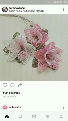 This post was discovered by nuran basmaci. Discover (and save!) your own Posts on Unirazi. Seed Bead Flowers, Beaded Flowers, Diy Flowers, Crochet Flowers, Crochet Motif, Crochet Designs, Crochet Patterns, Needle Tatting, Needle Lace