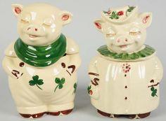 Shawnee Piggie Cookie Jars