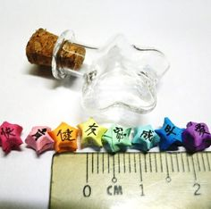 Micro Mini Rainbow Origami Lucky Star Charm by Dust of Enchantment, via Flickr