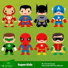 Super Kids Clip Art (Pack 1) - digital clip art for personal and small…