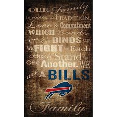 Officially Licensed NFL Our Family Canvas #ad #buffalo #nfl #football #footballmom #canvas