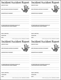 Nursery Incident/Accident Form