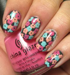 GrilledNails: Nailartfeb 2013 Challenge- Flowers, nails, flowers, cute, nail-art, nail art