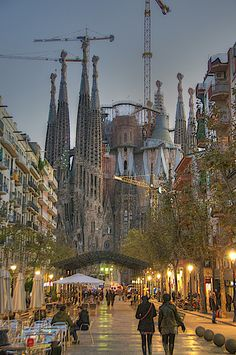 Basilica of The Sacred Family (La Sagrada Familia), Barcelona Spain. (Currently under construction)