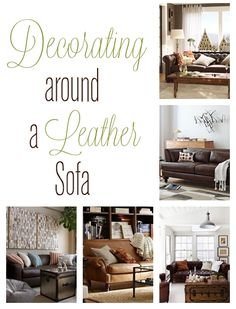 This is exactly what I was looking for - how to make a room feel light and pretty even with a dark leather couch.