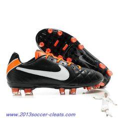 Cheap Nike Tiempo Legend IV Elite FG Black White Orange For Wholesale
