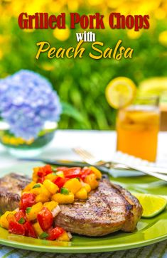 Grilled Pork Chops with Peach Salsa | Southern Boy Dishes