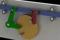 Reciprocating Mechanism Simple - STEP / IGES,STL,SOLIDWORKS,Parasolid - 3D CAD model - GrabCAD