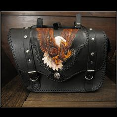 WILD HEARTS: Eagle Carved Leather Single Saddlebag Harley-Davidson Sportster iron 883/Forty-Eight Motorcycle WILD HEARTS Leather&Silver (ID sb3480) | Rakuten Global Market Harley Davidson India, Harley Davidson Street, Harley Davidson Sportster, Harley Saddlebags, Sportster Iron, Motorcycle Images, Forty Eight, Iron 883, Bike Wear