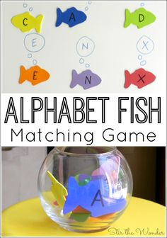 Alphabet Fish Matching Game- Alphabet Fish Matching Game The Alphabet Fish Matching Game combines letter recognition and fine motor skills! It would be a fun activity for a pets or ocean themed preschool unit! Preschool Lesson Plans, Preschool Literacy, Preschool Letters, Letter Activities, Literacy Activities, Preschool Ocean Activities, Pet Theme Preschool, Ocean Lesson Plans, Alphabet Activities For Preschoolers