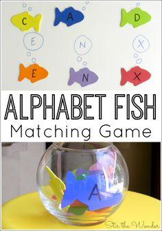 Alphabet Fish Matching Game - Stir The Wonder