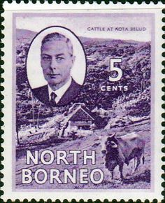 North Borneo 1950 SG 359 King George VI Fine Mint Scott 247 Other Malayan Stamps HERE