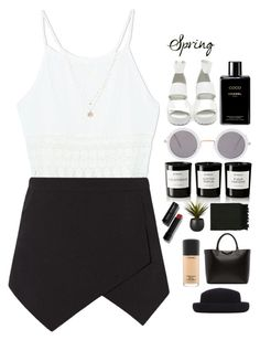 """""""Day to Night Spring"""" by blushingfreckles ❤ liked on Polyvore featuring Nasty Gal, ASOS, Chanel, Byredo, Surya, CB2, Bobbi Brown Cosmetics, LC Lauren Conrad, Givenchy and MAC Cosmetics"""