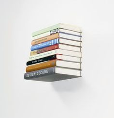 The books will be floating.Start hanging your book here