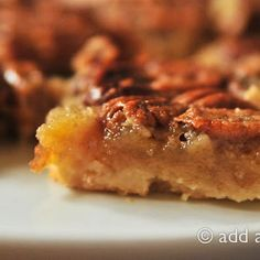 "Southern Pecan Pie Bars ~ my youngest likes ""nut"" pie at Thanksgiving - this just my be what we have this year to satisfy his sweet tooth (of course mine too)."
