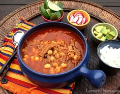 Pozole Rojo {Pork & Hominy Stew} Lemony Thyme – Famous Last Words Authentic Mexican Recipes, Mexican Food Recipes, Dinner Recipes, Ethnic Recipes, Mexican Desserts, Drink Recipes, Dinner Ideas, Mexican Cooking, Gourmet