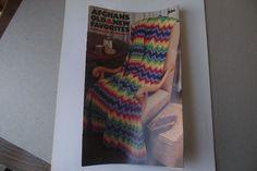 Vintage 1976 Afghans Old  New Favorites Coats & Clark's Book No. 255