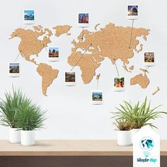 Push Button Pen Cork World Map ******************** Why you like it: -Made of natural material - cork wall decoration with deep silicon . Cork World Map, Cork Map, World Map Decor, World Map Wall, Wall Maps, World Map Pin Board, World Map With Pins, Push Pin World Map, Photo Wall Hanging