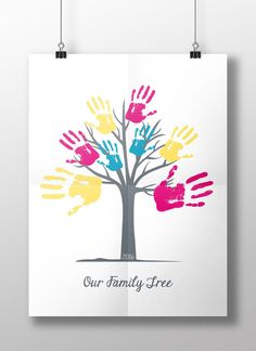 DIY Instant Download Printable Handprint Tree 'Our by Polskadotty