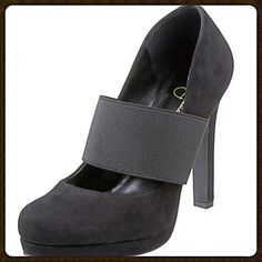 """Jessica Simpson """"Delanie"""" heels Wide elastic strap secures a versatile suede pump balanced on a lofty wrapped heel and platform. * Approx. heel height: 4 1/2"""" with 1/2"""" platform. * Suede upper/synthetic lining and sole. Only worn once! Jessica Simpson Shoes Heels"""