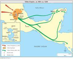 Toltecs: Homeland, influence, immigration