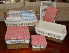 Momentos de Costura: 24. Tutorial fundas de cestas bordadas con cintas