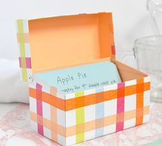 Is your recipe book getting a bit too crowded? Store your top secret recipes in this Mod Podge DIY Recipe Box to keep them organized and safe.
