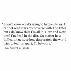 Soulmate And Love Quotes: Beau Taplin | Certainty: