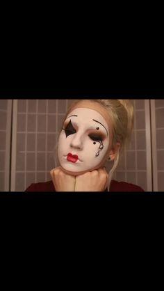 Mime makeup Halloween 2017, Halloween Kids, Halloween Makeup, Mime Makeup, Hair Makeup, Clowns, Make Up, Random, Fall