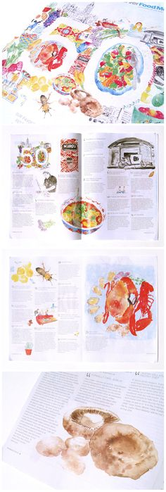 Food illustrations for The Observer by Gemma Luxton