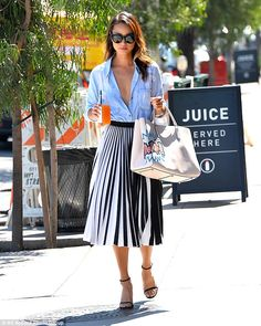 Dressed to impress: Jamie Chung put on a chic sartorial display as she stepped out in a stylishly sexy ensemble while running errands in Los Angeles on Wednesday