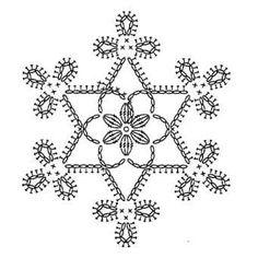 Snowflake crochet motif nr 4 pattern by Anabelia Craft Design - Salvabrani Appliques Au Crochet, Crochet Motifs, Crochet Diagram, Thread Crochet, Crochet Doilies, Crochet Flowers, Crochet Lace, Crochet Stitches, Crochet Patterns
