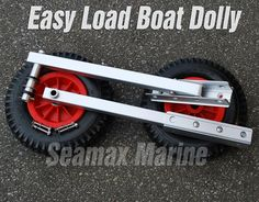 "Amazon.com : Seamax Easy Load Boat Launching Dolly 12"" Wheels System for Zodiac Type Inflatable Boats & Aluminum Boats : Fishing Boats : Sports & Outdoors"