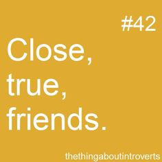 introvert  close FEW friends  don't feel the need to have MANY