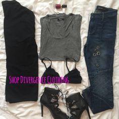 Shop #streetstyle at Divergenceclothing.com  #strappyheels #shoes #cuteshoes #fashio #fallfashion #winterfashion #basics #ootd #divergenceclothing