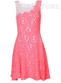 Shop Stylish Split Joint Fluorescence Color Princess Empire Lace Dress on sale at Tidestore with trendy design and good price. Come and find more fashion Knee Length Day Dresses here. Cheap Dresses, Day Dresses, Dresses For Sale, Nice Dresses, Summer Dresses, Formal Dresses, Classy Gowns, Formal Wear, Beautiful Dresses