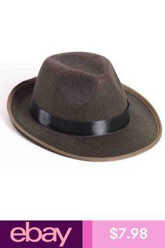 Adult 2-Tone Brown Gangster or Indiana Jones Costume Fedora Hat 24d27fe47c83