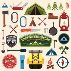 Vector Art : Camping symbols