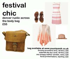 festival chic lookbook inspired by our Rowallan denver across the body bag available at www.youniqueuk.co.uk