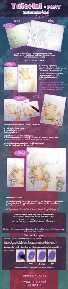 Copic marker Tutorial - part 1 by yaichino.deviantart.com on @deviantART