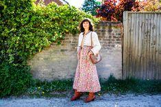 Boho chic fashion | JasmineHemsley.com Vintage Fans, Vintage Shops, Jasmine Hemsley, Charity Shop, Vintage Coat, Boots For Sale, Boho Fashion, Boho Chic, Going Out