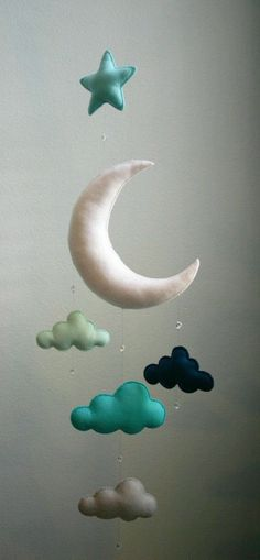 Sweet cloud mobile for a nursery.