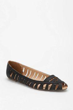 #peep toe flats