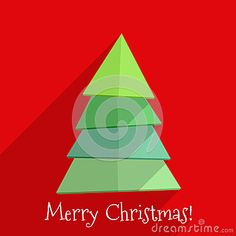 Плоский дизайн рождественской елки